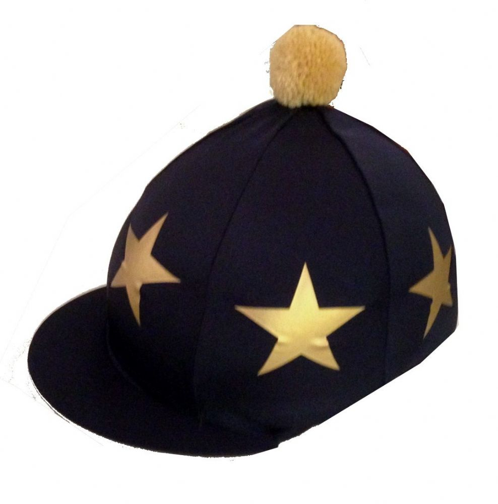 Sedbergh Silk Navy with Gold Stars and Gold Pom Pom